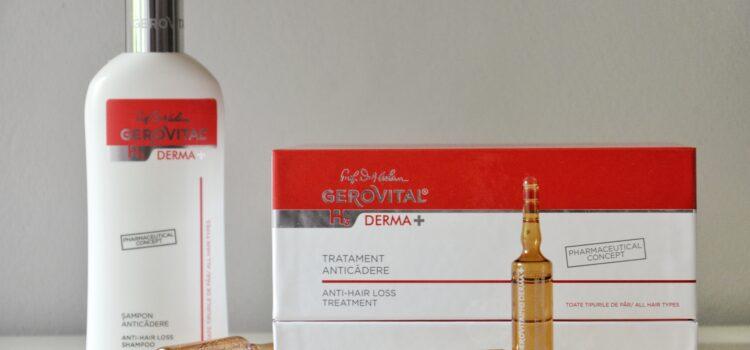 Tratament pentru par si sampon anticadere – Gama Derma+ Gerovital